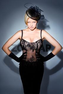 gorgeous blonde posing