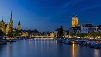 View of historic Zurich