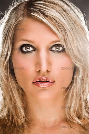 Portrait Of A Sensual Blond Woman
