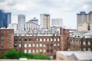 cityscape scenes around new orleas louisiana downtown