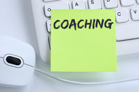 Coaching Beratung Schulung Personal Workshop Training Bildung Karriere Business Konzept Maus