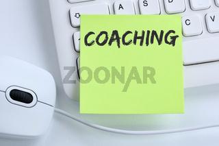Coaching Beratung Schulung Personal Workshop Training Bildung Karriere Business Konzept Maus