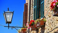 Street of Cetona in Tuscany
