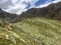 Trekking at Hohe Wut, near Obergurgl, Oetztal, Austria