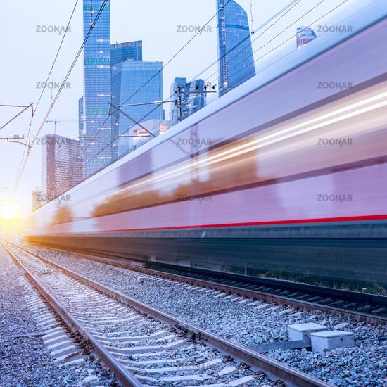 Modern high-speed train.