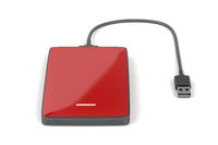 Red external hard drive