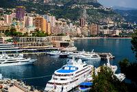 Harbour of Monte Carlo. Principality of Monaco