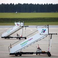 gangways on airport Frankfurt-Hahn, Rhineland-Palatinate, Germany, Europe