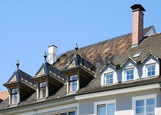 Historische Dachgauben, Marktstätte Konstanz
