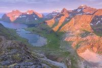 Evening mood, Bunesfjorden, Moskenesoeya, Lofoten, Norway