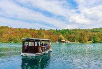 Boat on Plitvice lake
