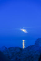 Moonlight over the Baltic Sea.