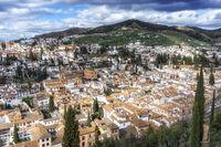 View of granada from alcazaba