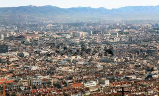 panoramic view of Marseilles city