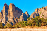 Meteora rocks in Thessaly