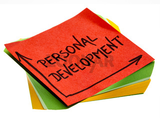 personal development words on reminder note