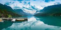 Beautiful Nature Norway panorama.
