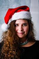 Happy Christmas woman