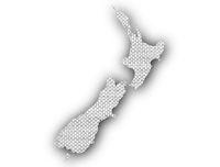 Karte von Neuseeland auf Leinen - Map of New Zealand on linen