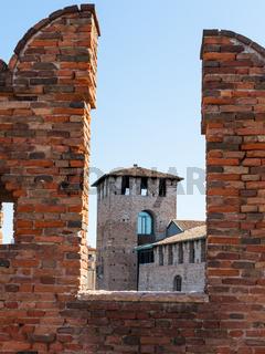 merlons of Castelvecchio (Scaliger) Bridge