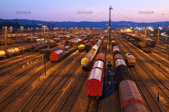 Freight train depot, Hagen, Ruhr District, North Rhine-Westphalia, Germany, Europe