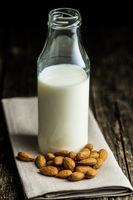 Healthy almond milk.