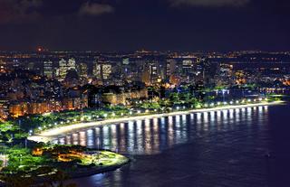 Night view of Rio de Janeiro downtown