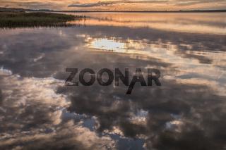 Sonnenaufgang am Bodden (Halbinsel Fischland-Darss-Zingst, Born)