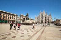 The tourist centre of Milan