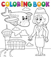 Coloring book aviation theme 2 - picture illustration.