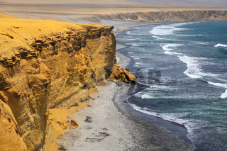 Supay Beach in Paracas National Reserve, Peru.