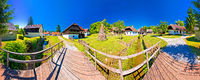 Traditional village of Kumrovec in Zagorje region of Croatia panoramic view