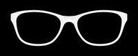 white glasses on black background