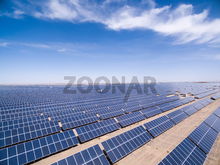 aerial view of solar energy