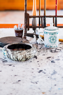Chinese Caligraphy desk