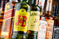 Global brands of whiskey, the most popular liquor in the world