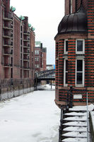 Winter at the historic warehouse district