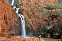 Ouzoud Falls near the Grand Atlas village of Tanaghmeilt