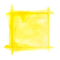 Yellow square watercolor frame