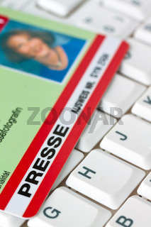 Press pass for journalists