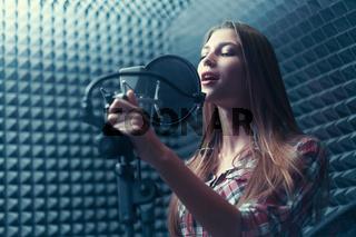 Attractive singer