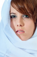 Pretty young woman in headscarf