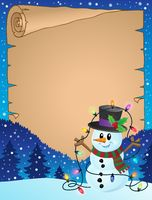 Parchment with Christmas snowman theme 3