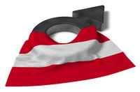 symbol für männlich und flagge österreich - 3d illustration