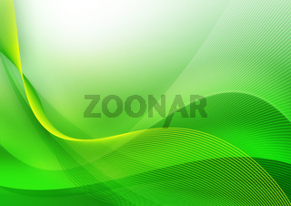 Abstract green wave