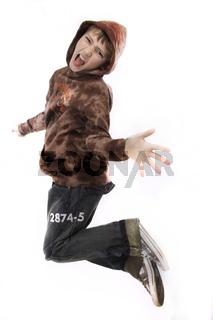 Junge springt wd707