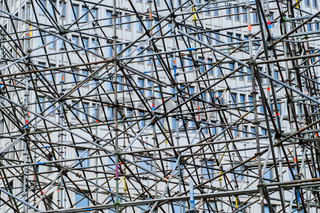 scaffolding construction concept - abstract scaffolding framework