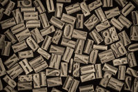letters and numbers in letterpress wood type