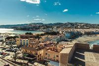 Peniscola cityscape. Costa del Azahar. Spain