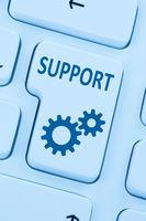 Support Service Hilfe Internet online Computer blau web
